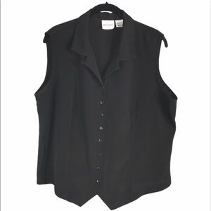 Vintage Classy  Black Vest, size XL